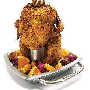 Stojak do kurczaka z brytfanną